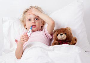 У ребенка температура 39 ангина